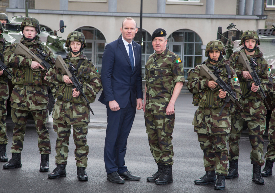 2-Defence Minister Simon Coveney at the launch of recruitment campaign