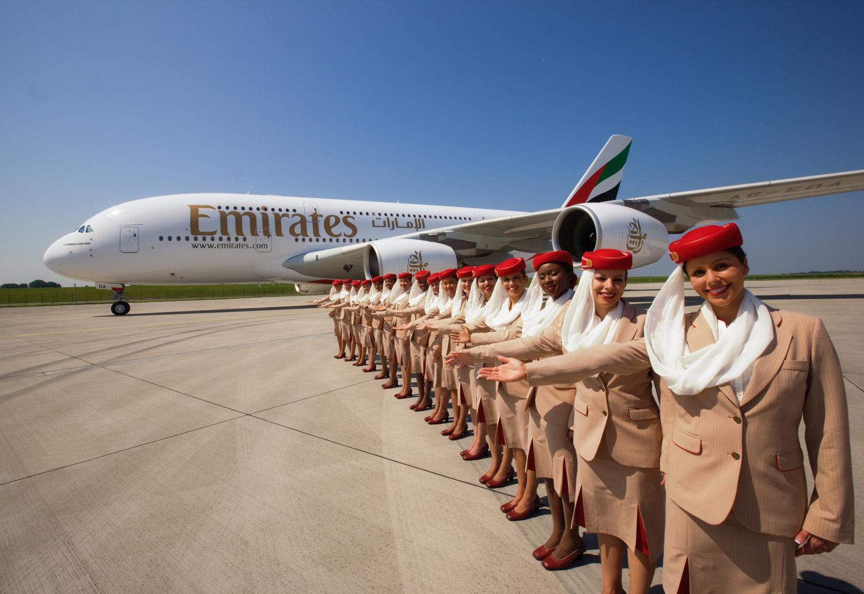 Emirates A380 & crew