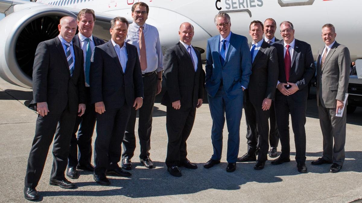 Bombardier & Delta executives