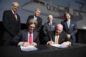Bombardier and Fokker representatives sign Agreement