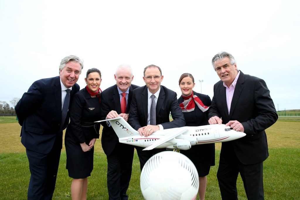 CityJet Official Airline Partner of the Football Association of Ireland