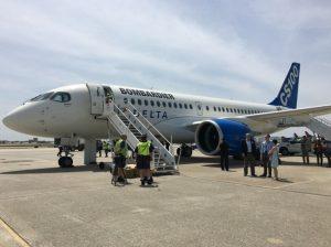 Delta Bombardier CS100 demo