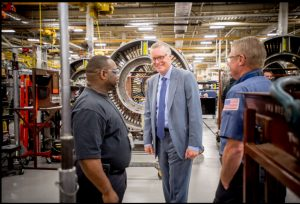 Delta's incoming CEO Ed Bastian meeting employees