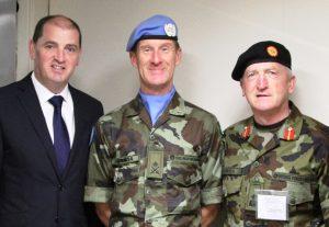 Unifil Rotation (Minister  Paul Keogh, Major Gen Kieran Brennan & Lt Col Brendan McGuinness)