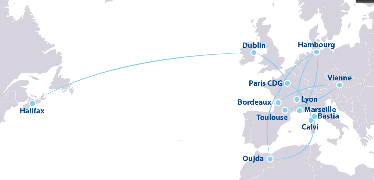 ASL Airlines route map