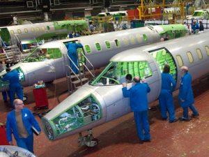 Bombardier Learjet construction