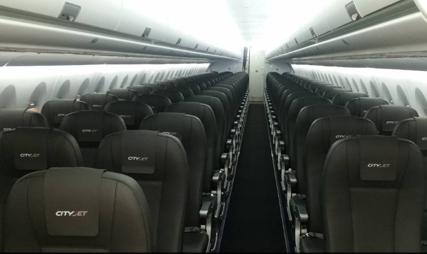 CityJet Sukhoi SuperJet EI-FWA (interior)