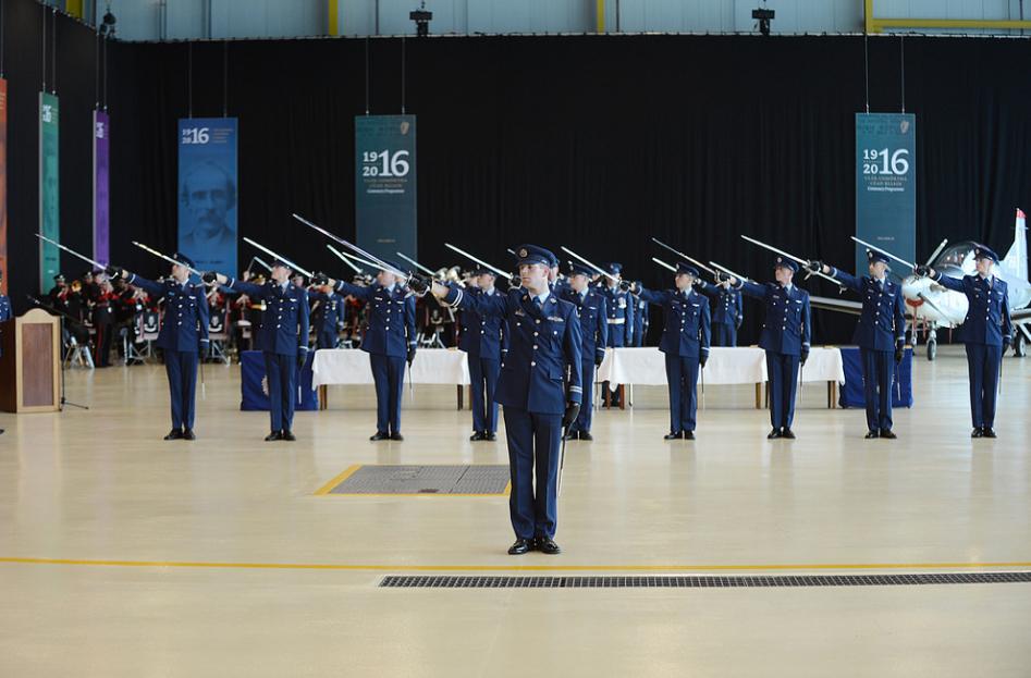 Air Corps 32nd Cadet Class salute