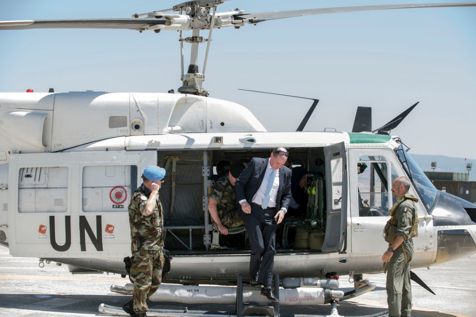 Minister Kehoe arrives at UN 2-45 and UN OP 6-52