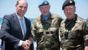 Minister of State Kehoe,  Major General Beary & Vice Admiral Mark Mellett