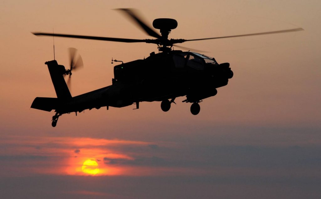UK Apache helicopter