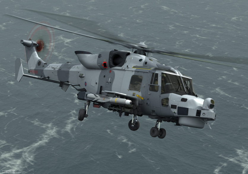 Wildcat Helicopter Carrying FASGW Missiles