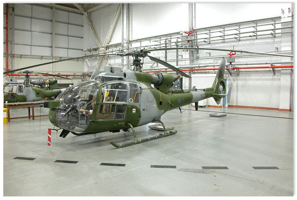 AAC Gazelle in storage