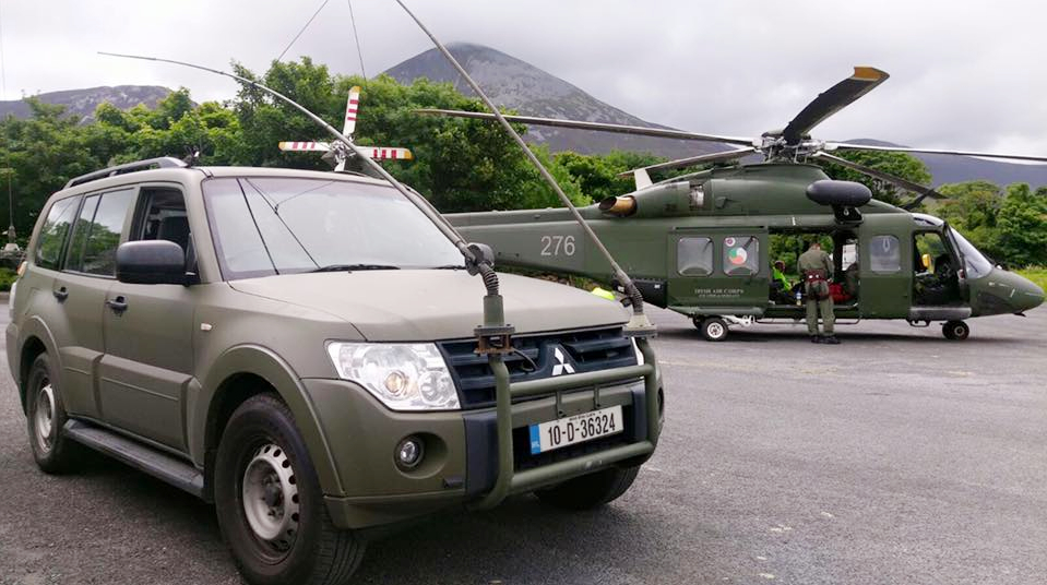 Air Corps deployment to Croagh Patrick