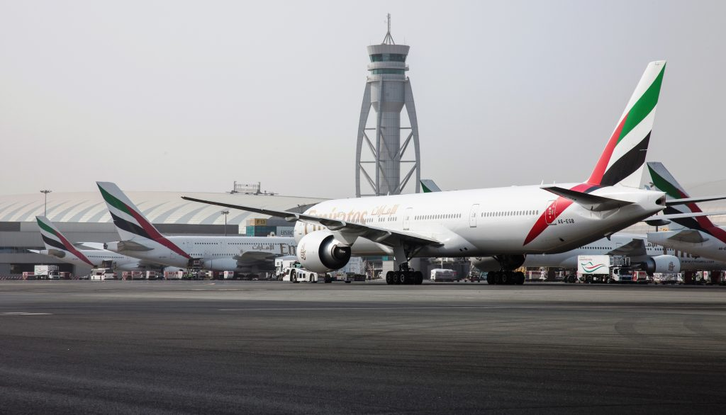 Emirates 777 at Dubai