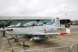Fully armed PC-9 on display (JL IMG3066)
