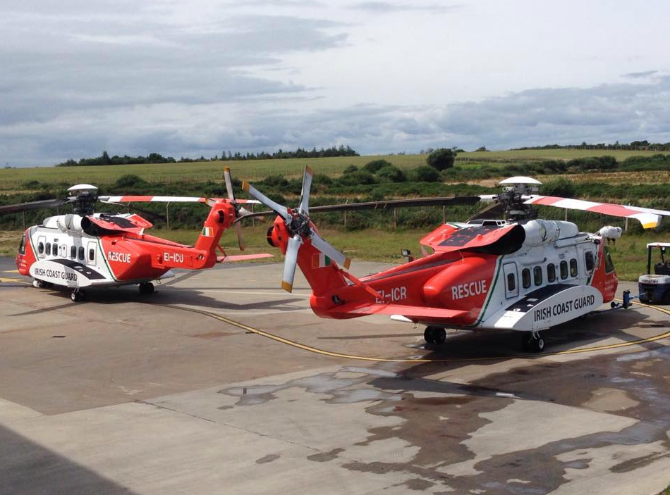 IRCG helicopters in Waterford