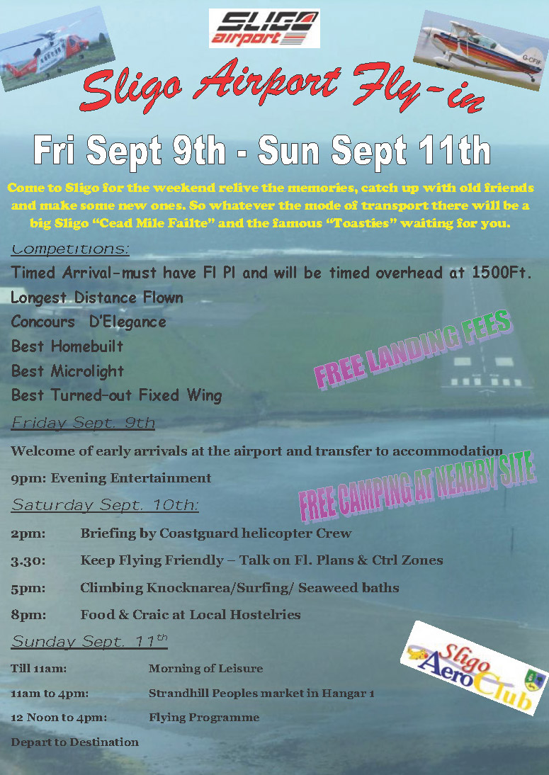 Sligo Fly-in Poster 2016