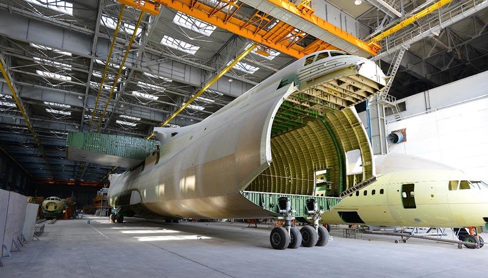 Antonov An-225 second fuselage at Antonov Company's production facility