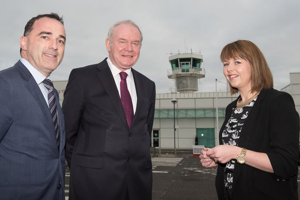 martin-mcguinness-with-paul-byrne-frances-wilson-city-of-derry-airport