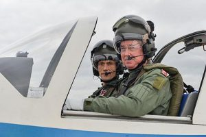 defence-secretary-sir-michael-fallon-mp-going-on-an-air-experience-flight-in-a-tutor