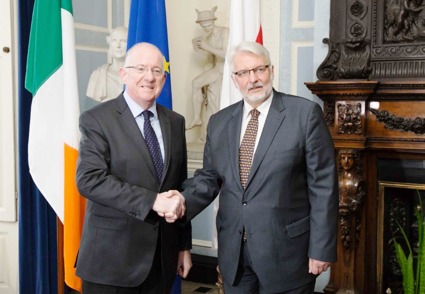 polish-foreign-minister-witold-waszczykowski-meets-minister-flanagan